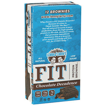 Lenny & Larry's FIT Protein Brownie Chocolate Decadence 12 Bars
