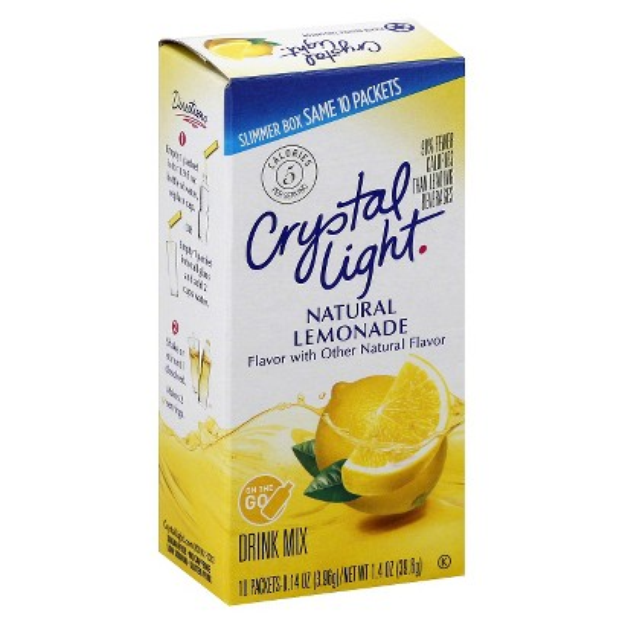 Crystal Light On the Go Natural Lemonade Drink Mix 10 ct