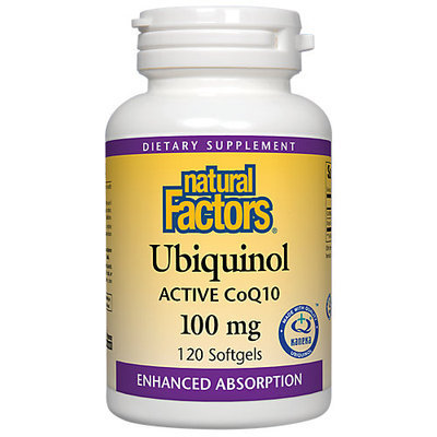 Natural Factors Ubiquinol QH Active CoQ10 100 mg - 120 Softgels
