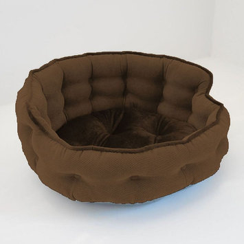 Paws & Claws Franklin Textured Solid Tufted Headboard Pet Bed Bark