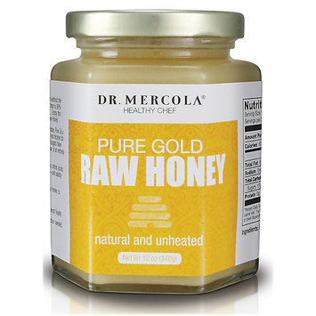 Pure Gold Raw Honey by Mercola - 12 oz.