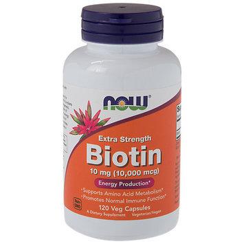 NOW Foods - Extra Strength Biotin 10000 mcg. - 120 Vegetarian Capsules