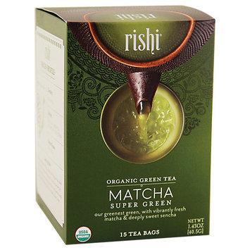 Rishi Tea Organic Super Green Tea Matcha 15 Tea Bags