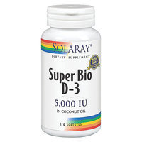 Solaray - Super Bio D-3 5000 IU - 120 Softgels