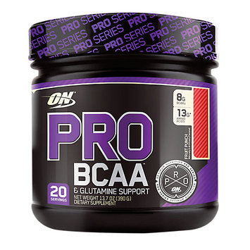 ABB Records Optimum Nutrition PRO BCAA & Glutamine Support Fruit Punch 20 Servings
