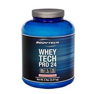 BodyTech Whey Pro 24 Protein Powder, Strawberries & Cream