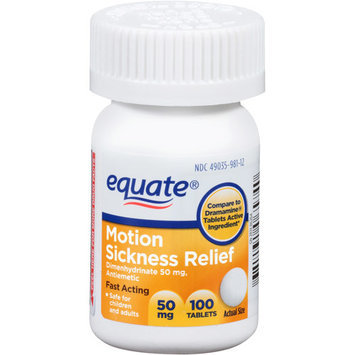 Equate Motion Sickness Relief Tablets, 100 count