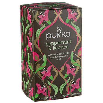 Pukka Herbs - Organic Herbal Tea Peppermint & Licorice - 20 Tea Bags