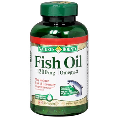 Nature's Bounty Fish Oil 1000 mg Dietary Supplement Rapid Release Liquid Softgel