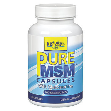 Pure MSM with Glucosamine, 120 Capsules, Natural Balance