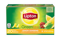 Lipton Lemon Ginseng Green Tea