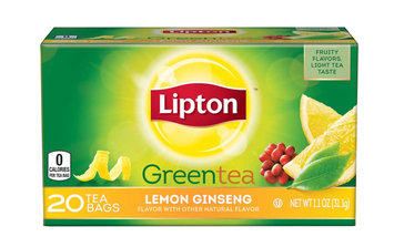Lipton® Lemon Ginseng Green Tea