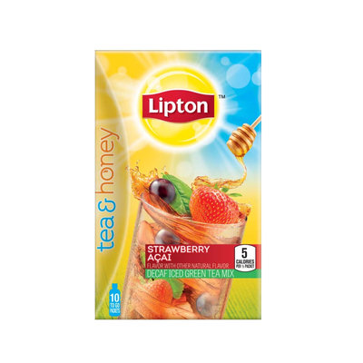 Lipton Strawberry Açai Decaf Iced Green Tea To Go Packets