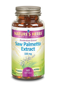 Nature's Herbs Saw Palmetto Extract 320 mg - 60 Softgels