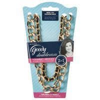 Goody Doublewear Goody Double Wear 2 in 1 Gold Chain Link with Black Ribbon Headband