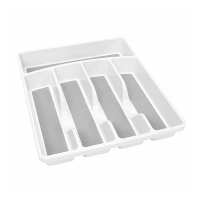 HMS Manufacturing White 5 Compartment Flatware Organizer