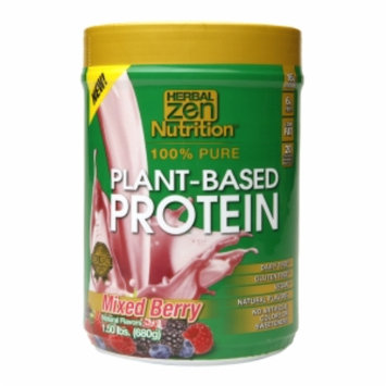 Herbal Zen - Plant-Based Protein 100 Pure Mixed Berry - 1.5 lbs.