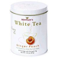 Bentley's Ginger Peach White Tea, 50 Count Tins (Pack of 2)