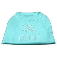 Mirage Pet Products 5234 XXXLAQ Got Booty? Rhinestone Shirts Aqua XXXL 20