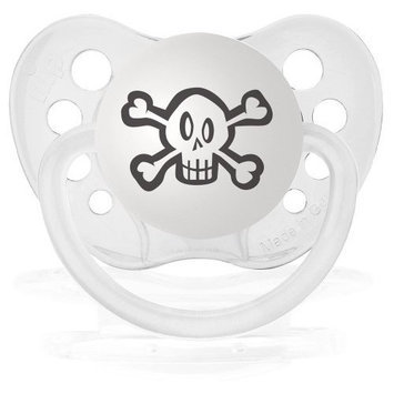 Personalized Pacifiers Skulls (White) Pacifier