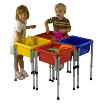 ECR4Kids ECR4KIDS Square Sand/Water Table with Lids