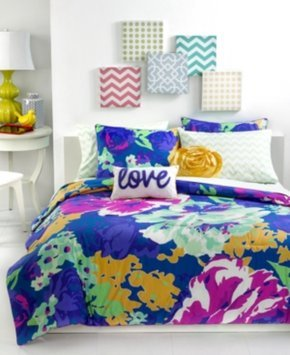 Closeout! Teen Vogue Isabella Floral Full Sheet Set Bedding