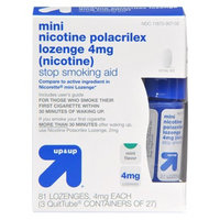 up & up up&up Mini Nicotine Polacrilex 4 mg Mint Lozenges - 81 Count