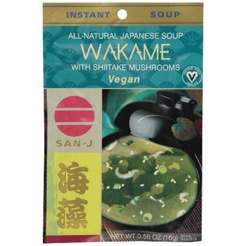 San-J Gluten Free Wakame Seaweed & Shitake Mushrooms Envelopes, 0.56-Ounce Envelopes (Pack of 36)