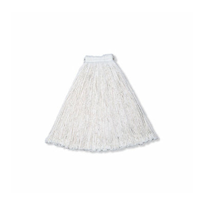 Rubbermaid Commercial Products 16 Oz Economy Cotton Mop Heads with 1'' White Headband