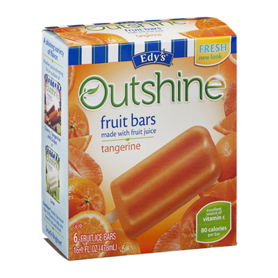 Edy's Outshine Fruit Bars Tangerine - 6 CT