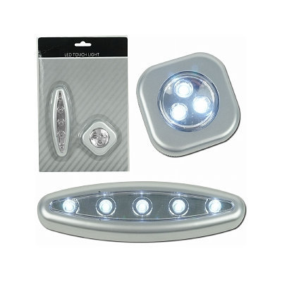 Trademark Global Super Bright 3 and 5 LED Touch Light Set w/ Mounts