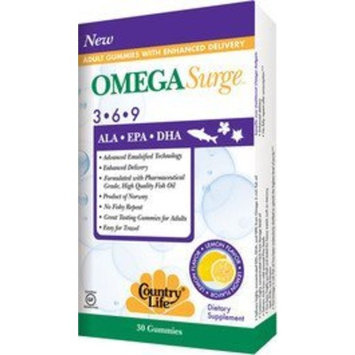 Country Life Omega Surge 3-6-9 60 Gummies