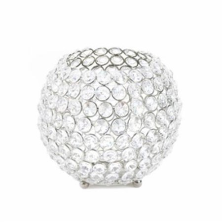 Koehlerhomedecor Silver Shimmer Globe Candle Cup