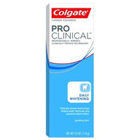 Colgate PRO Clinical Daily Whitening Toothpaste, Sparkling Mint, 4-Ounce Boxes (Pack of 4)