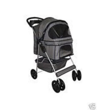BestPet Classic Gray 4 Wheel Pet Stroller
