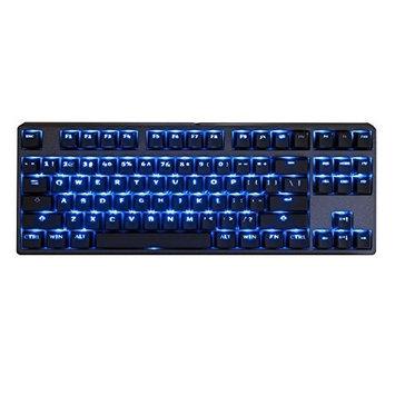 Tg3 Electronics Inc TG3 KBA-CBL87P-BLU-DPU-E1 Deck 87-Key Blue LED Blue MX Switch Keyboard