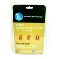 Innovative Technology Elect Innovative Technology Turntable Replacement Needles 3-pk.
