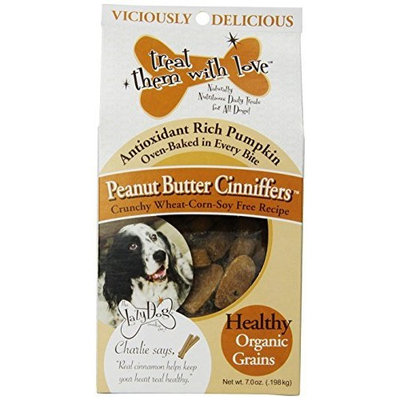 The Lazy Dog Cookie Co Inc Peanut Buttter Cinniffers, 7 Ounce Boxes (Pack of 3)