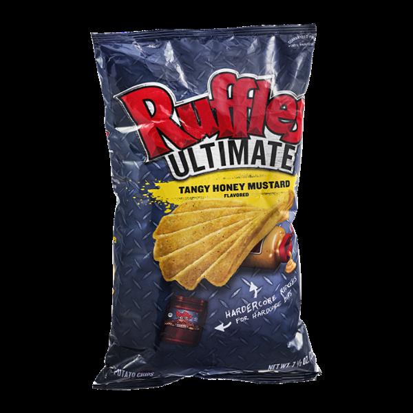 Ruffles Ultimate Potato Chips Tangy Honey Mustard