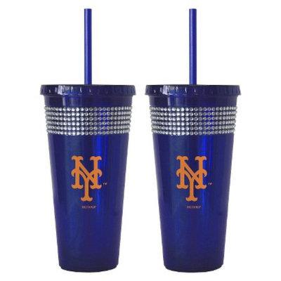 Boelter Brands MLB Giants Set of 2 Bling Straw Tumbler - 22oz