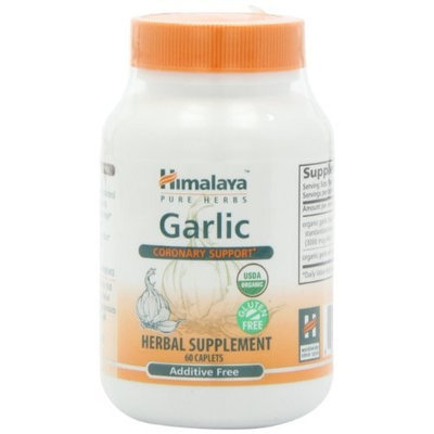 Himalaya Pure Herbs Garlic, Coronary Support, 60 Caplets, (Pack of 2)