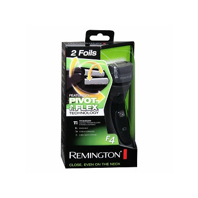 Remington Titanium Shaver Featuring Pivot & Flex Foil Technology