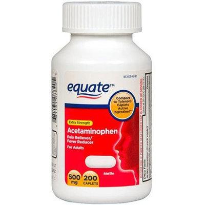 Equate Extra Strength Acetaminophen Pain Reliever/Fever Reducer Caplets, 500mg, 200 count