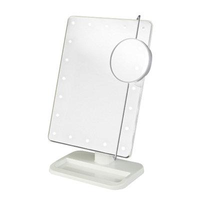 Jerdon Portable LED Lighted Adjustable Makeup Mirror