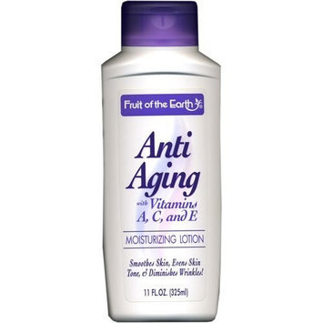 Fruit of the Earth Anti Aging Moisturizing Lotion with Vitamins A, C, and E 11 oz