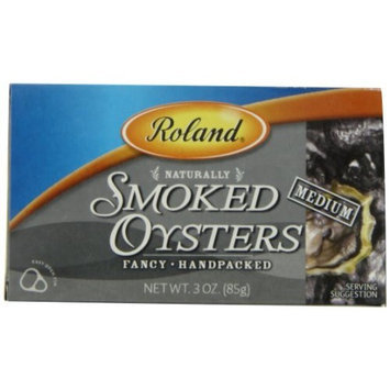 Roland Medium Smoked Oysters, 3-Ounce Cans (Pack of 5)