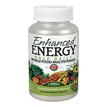 Kal - Enhanced Energy Once Daily Whole Food Multivitamin - 60 Vegetarian Tablets