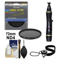 Hoya 72mm HMC ND4 Multi-Coated Neutral Density Filter + Accessory Kit for Canon, Nikon, Sony, Olympus & Pentax Lenses