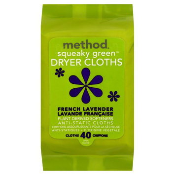 method products method squeaky green dryer cloths french lavender