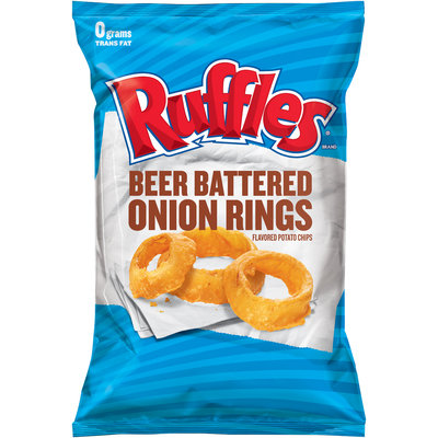 Ruffles® Potato Chips Beer Battered Onion Rings Flavored
